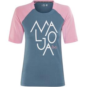 Maloja NotalaM. Fietsshirt korte mouwen Dames roze/blauw